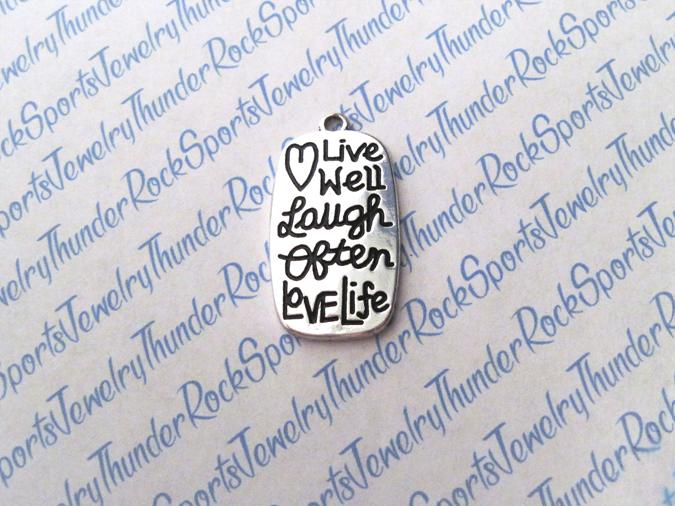 3 Live Well Laugh Often Love Life Silver Charms