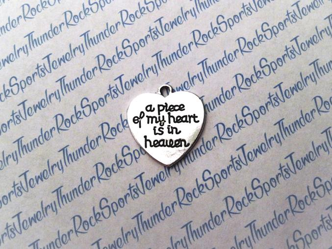 3 A Piece of My Heart is in Heaven Pendants Silver Charms