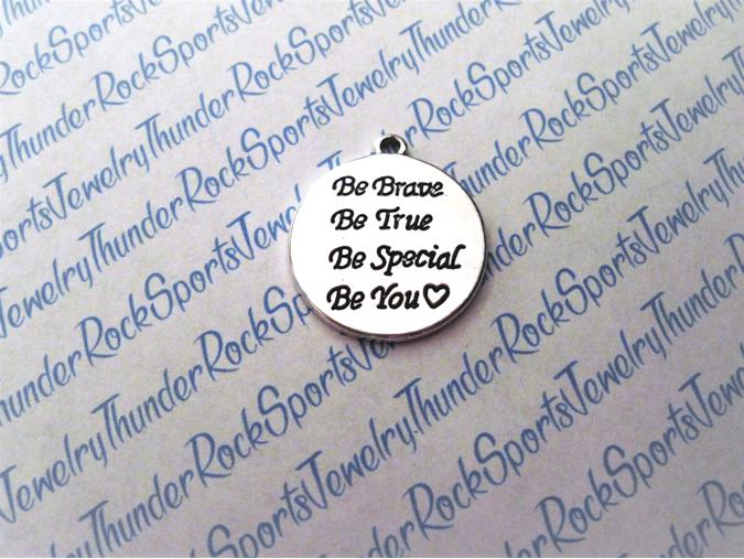 3 Be Brave Be True Be Special Be You Pendants Silver Charms