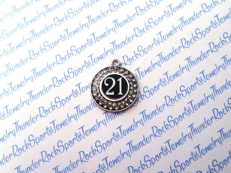 Custom Any Number Charm Crystal Pendant