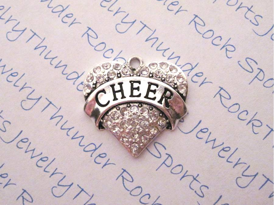 Cheer Charm Crystal Silver Heart Pendant