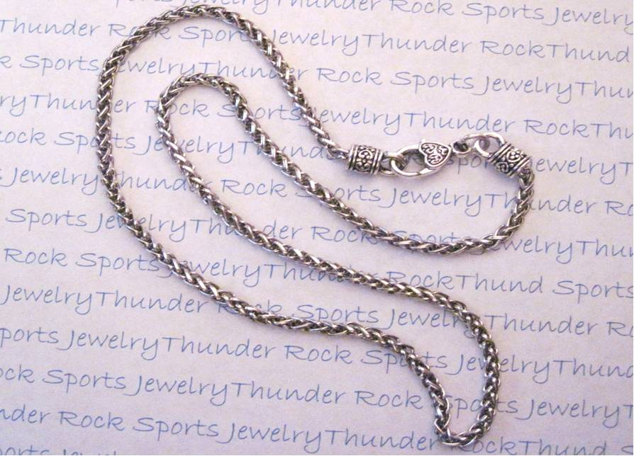 3 Silver Wheat Necklaces