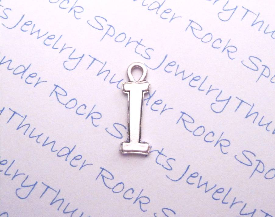 Silver Curlz Letter I Alphabet Initial Charm