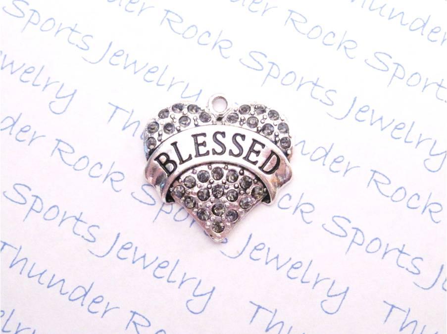 3 Blessed Charms Smoky Quartz Crystal Silver Heart Pendants