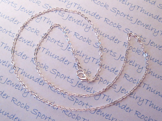 3 Silver Fine Cable Necklaces