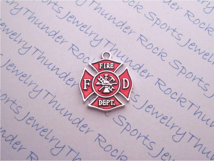 3 Maltese Cross Firefighter Silver Charms