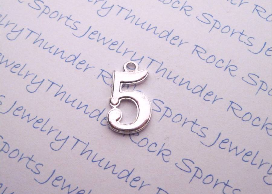 3 Number 5 Silver Charms
