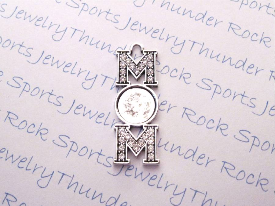 Antique Silver Plated MOM Pendant Blank