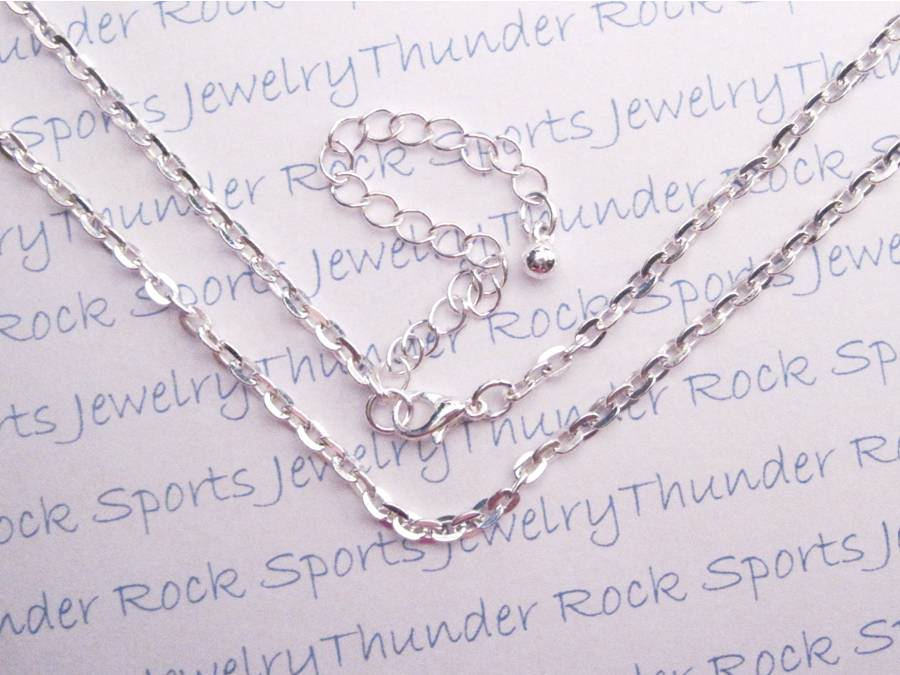 3 Silver Flat Cable Necklaces