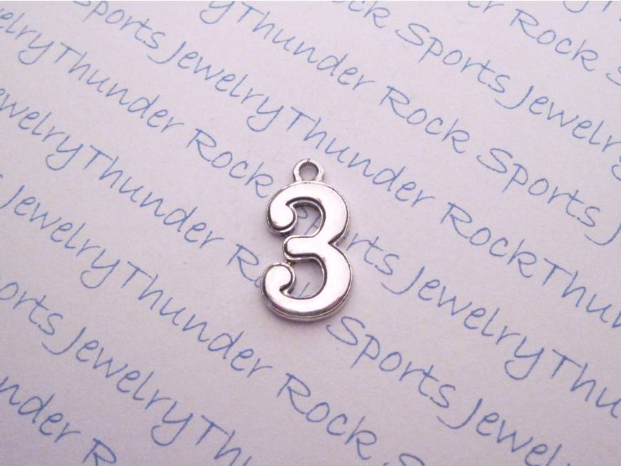 3 Number 3 Silver Charms