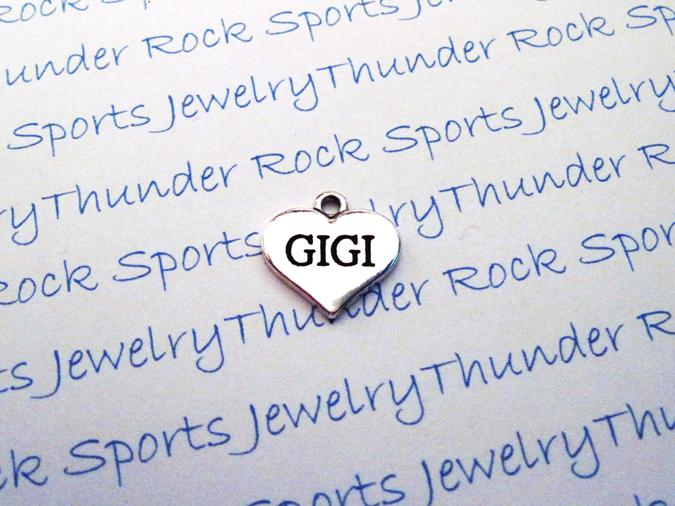 3 Gigi Charms Silver Heart Pendants