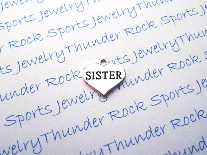 3 Sister Silver Heart Charms