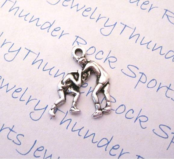 3 Wrestling Wrestlers Silver Charms